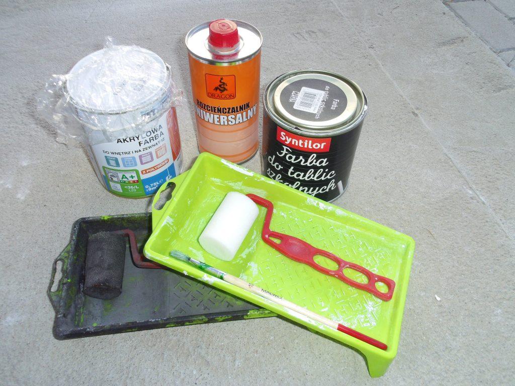 materiały potrzebne do malowania