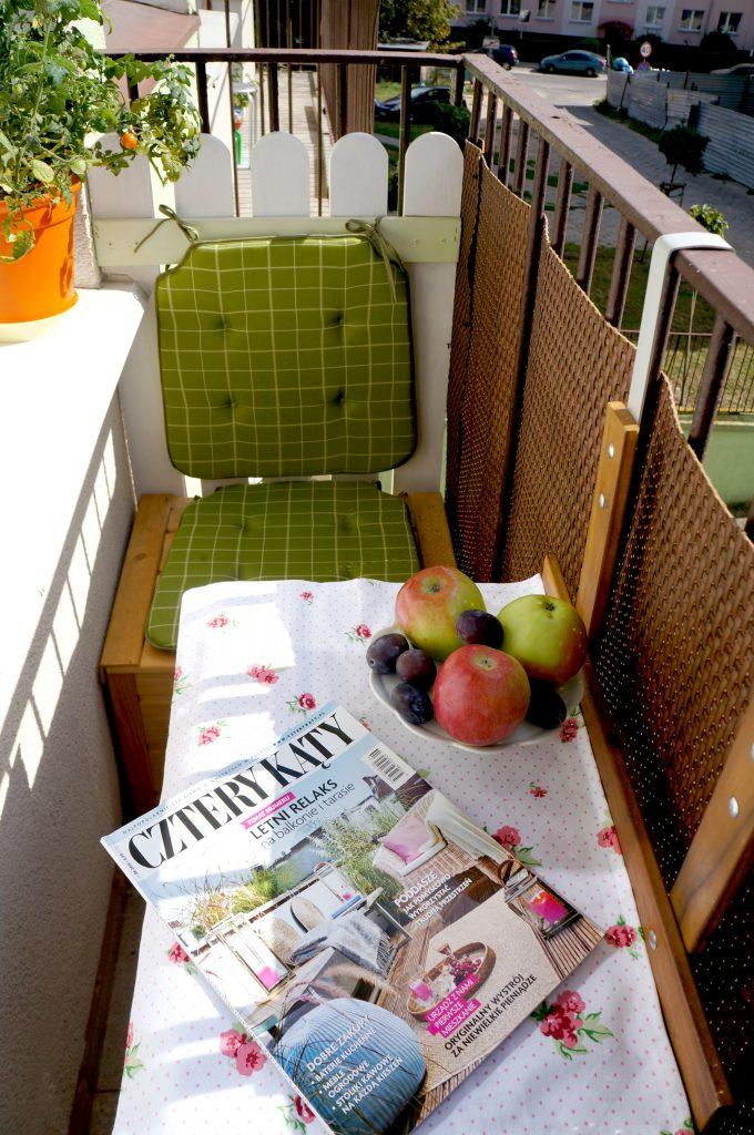 rozkładany stolik balkonowy