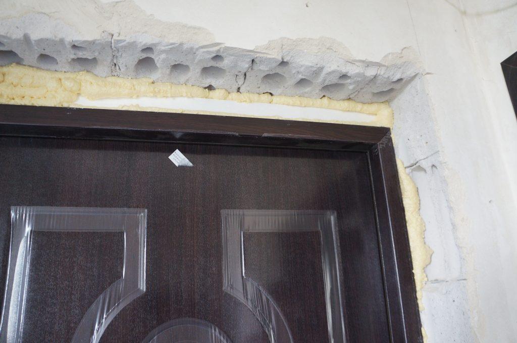 stan przed obróbką drzwi