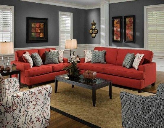 Czerwony W Salonie Czyli Kolor We Wn Trzu Cz 4 Projekt Dom