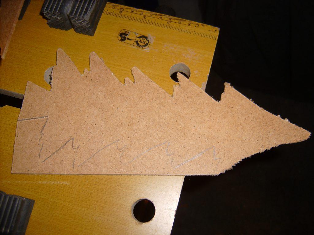 Choinka z plecówki