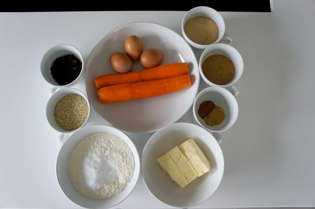 składniki na ciasto