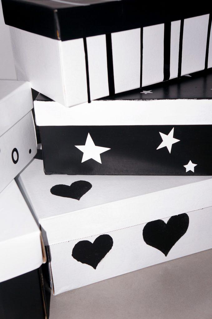 ozdobione pudełka po butach