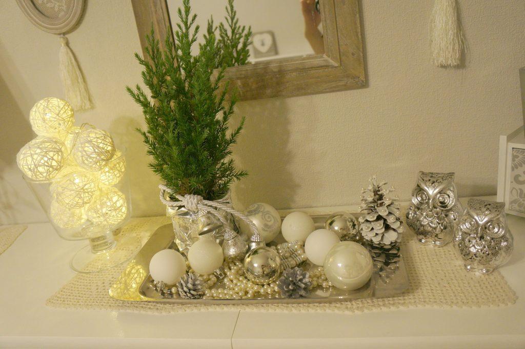 białe ozdoby na Święta