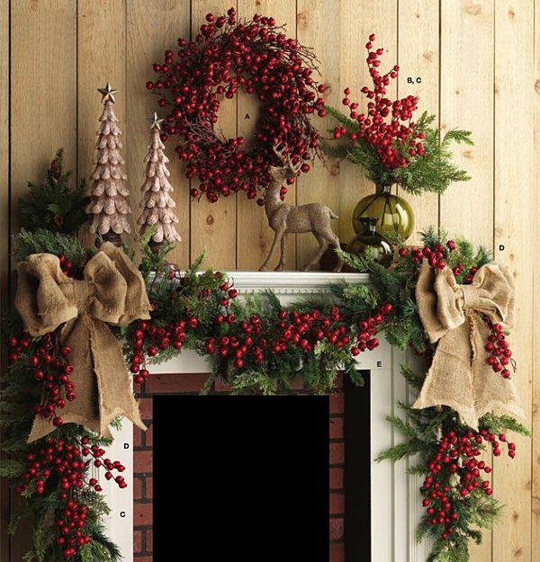 świąteczne dekoracje z żurawiny