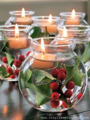 świeczniki z żurawiną