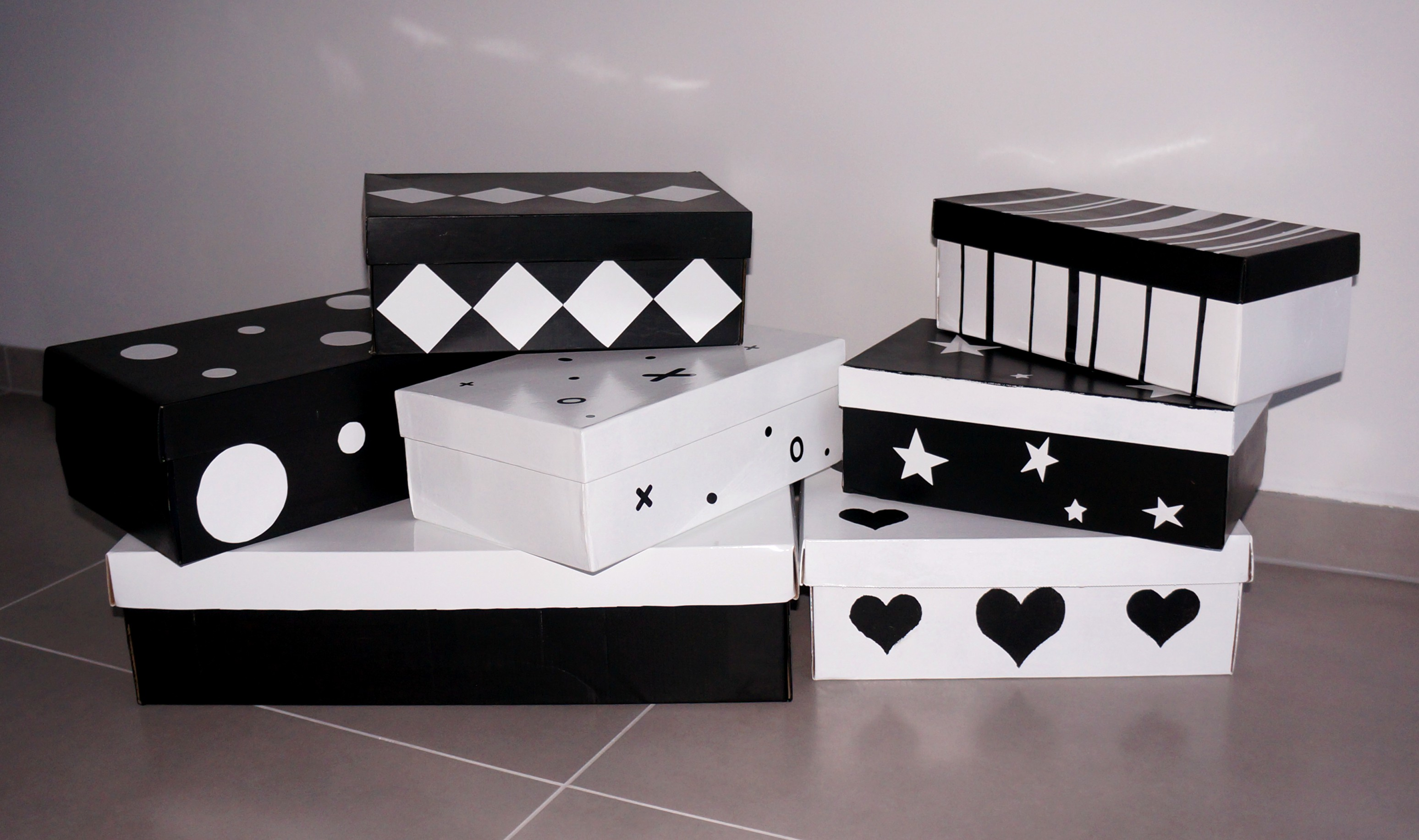 jak ozdobić pudełka po butach