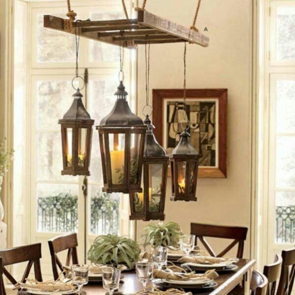 lampa z drabiny