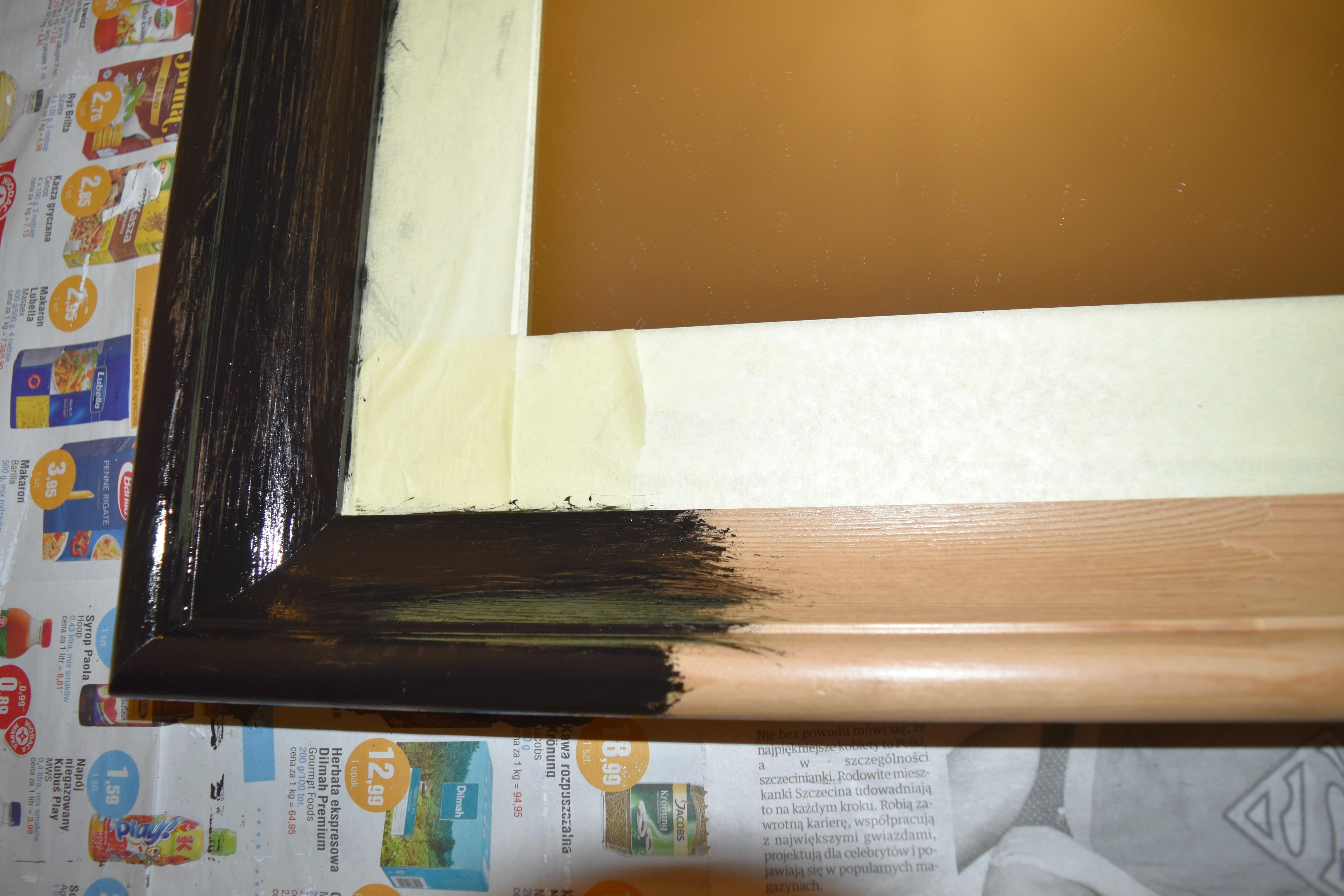 malowanie ramy lustra