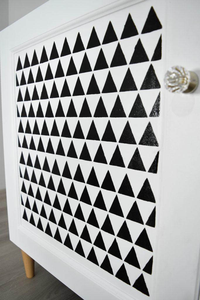 wzór w trójkąty