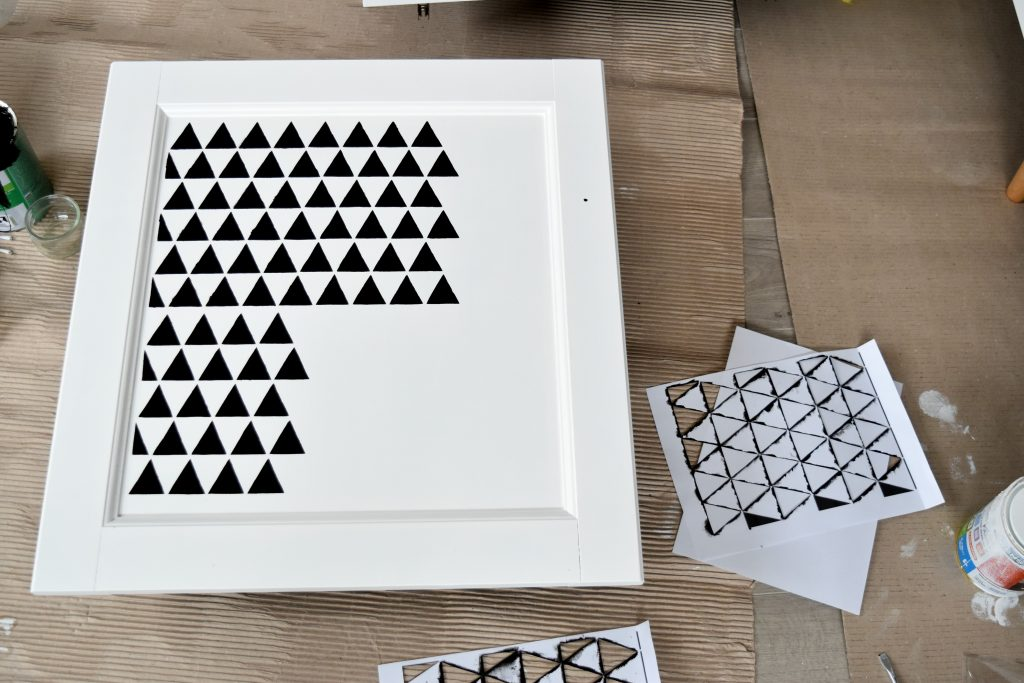 szablon w trójkąty