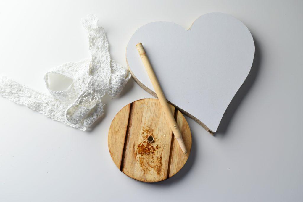 materiał na serce