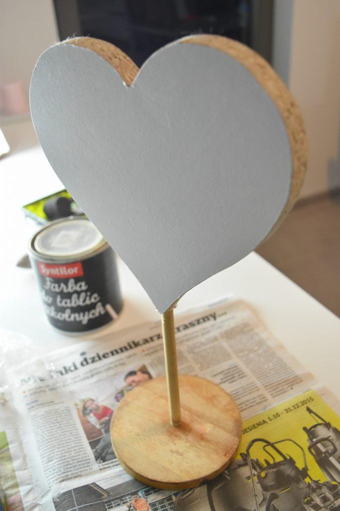 Serce przed malowaniem