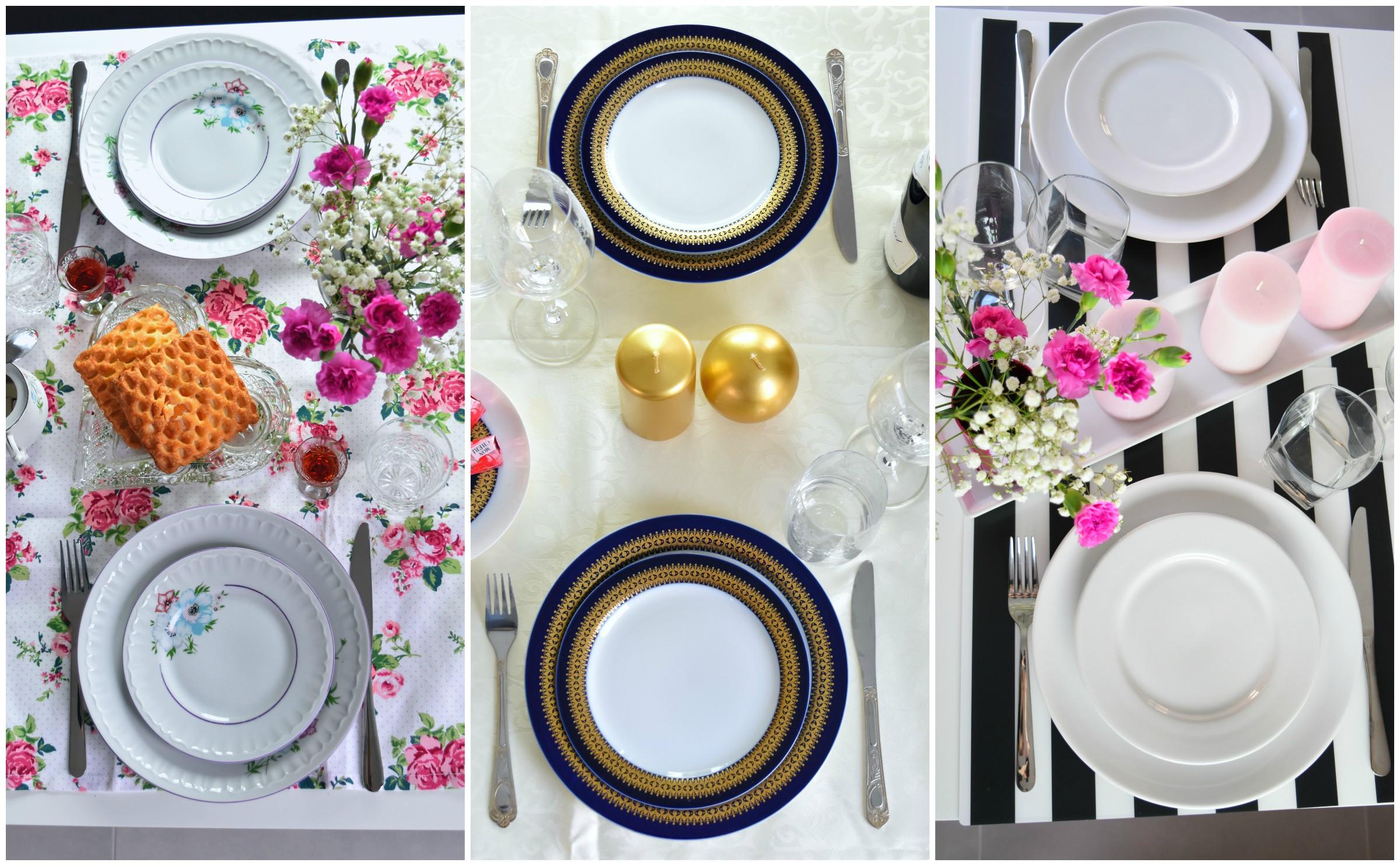 stół walentynkowy na 3 sposoby