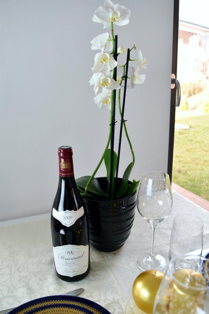 butelka wina do kolacji