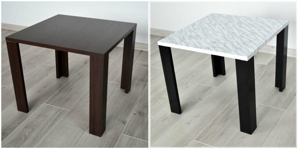 stolik marmurowy DIY