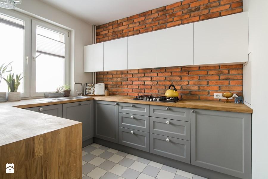 Cegła we wnętrzu  dużo inspiracji  Projekt Dom -> Kuchnia Tapeta Cegla