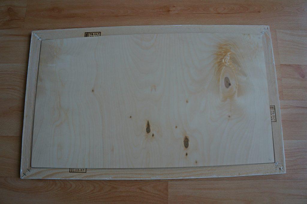 tablica DIY przed malowaniem