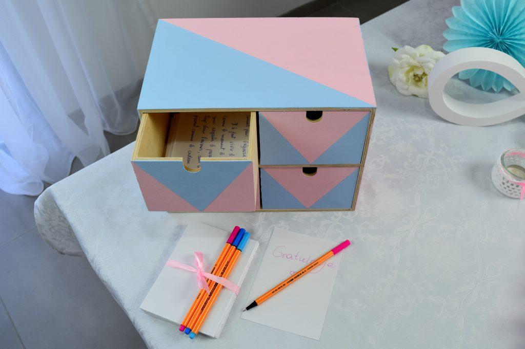 Księga gości w kolorach serenity i rose quartz