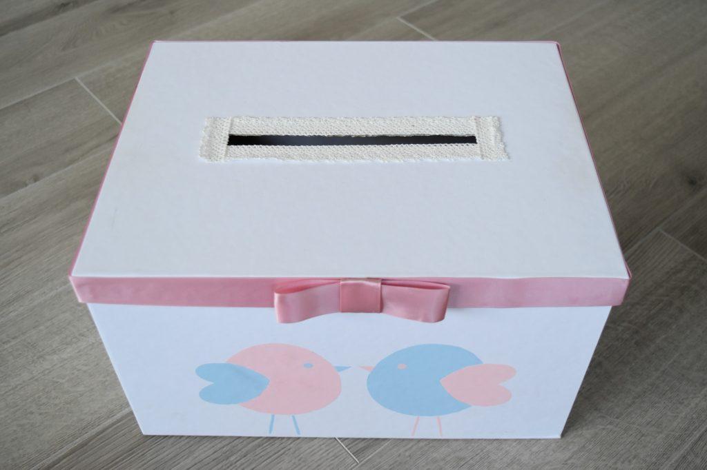 pudełko weselne serenity i rose quartz
