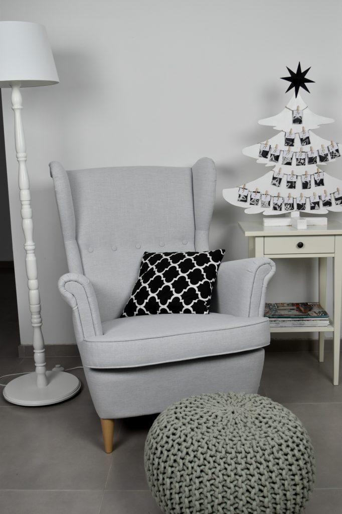 biało-czarne dekoracje świąteczne