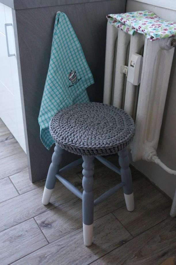 siedzisko ze sznurka bawełnianego