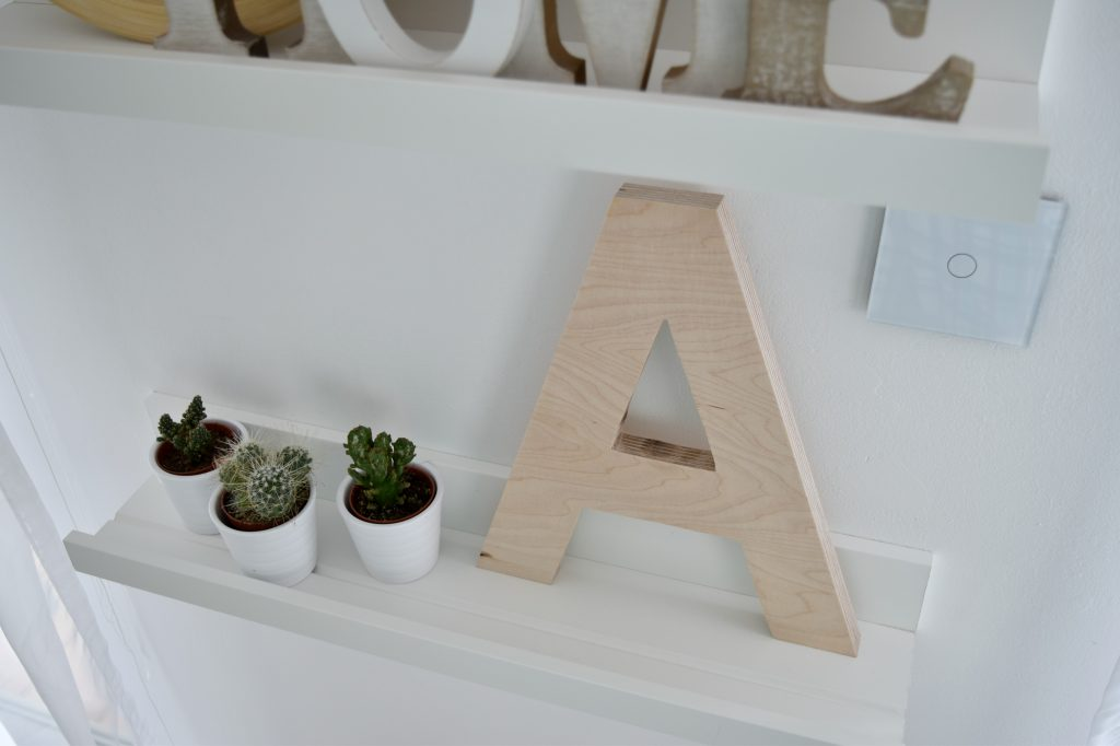 drewniana litera