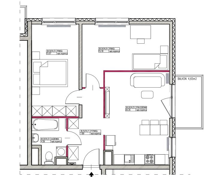 nowe mieszkanie - rozkład