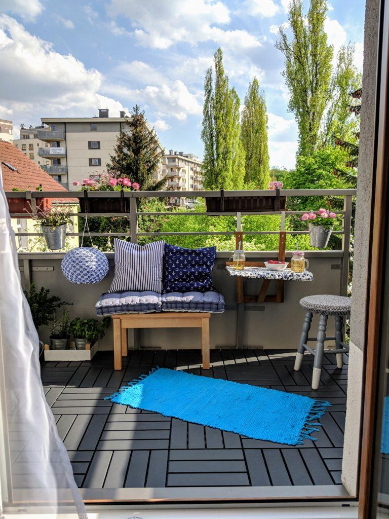 relaks na balkonie